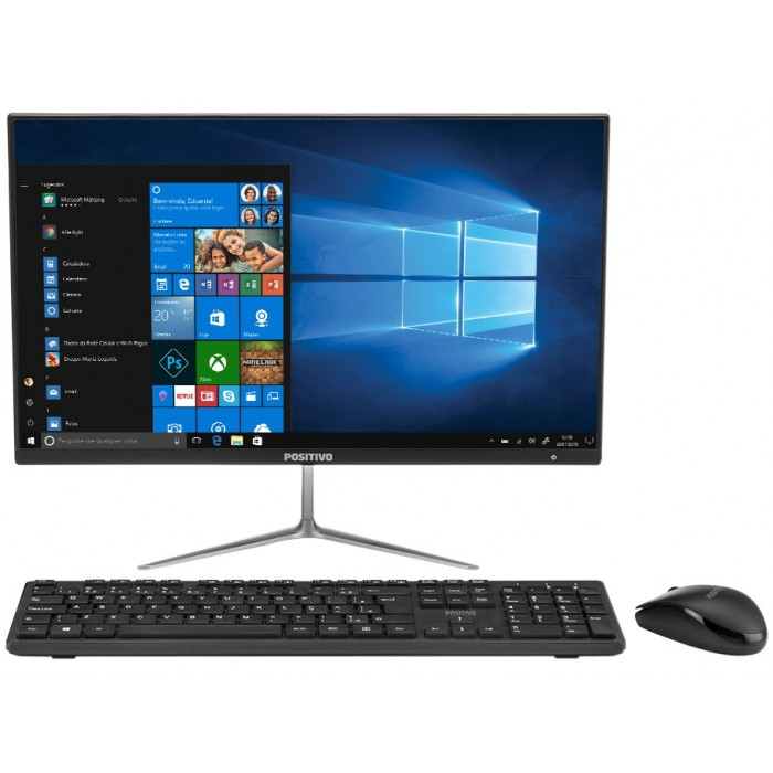 "Computador All in One Positivo Union C4500A - Intel N4000 4GB 500GB LED 21,5"" Windows 10"